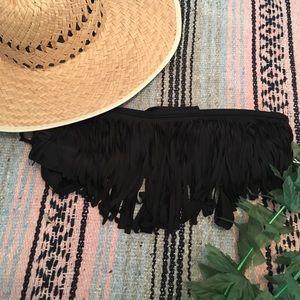 Other - Fringe Bandeu Top in Black